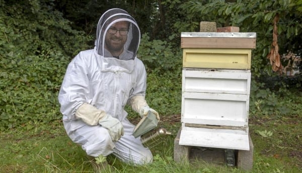 Beekeeper and Trinity ordinand Rob McDonald