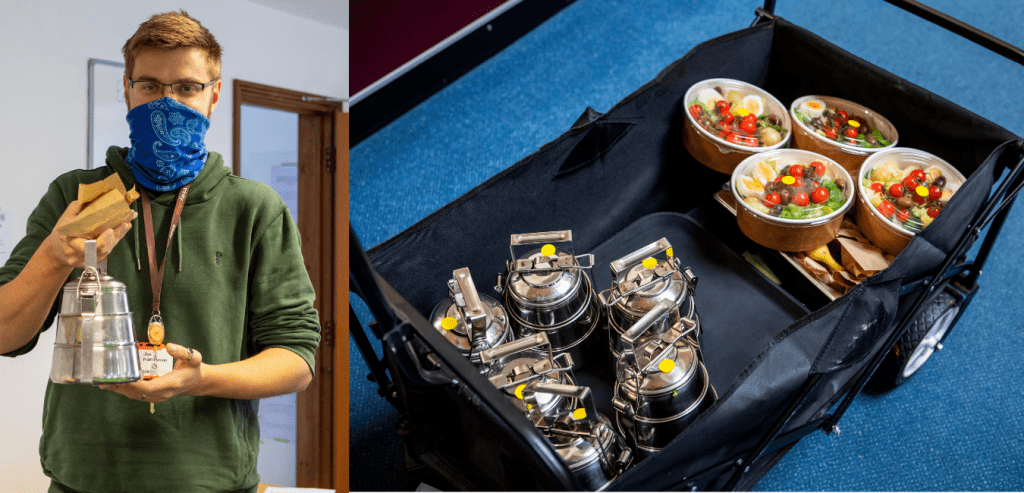 Providing college lunch through tiffin tins